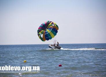 Парашют в Коблево — полет над морем и береговой линией курорта