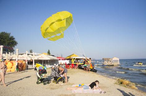 Парашют в Коблево — полет над морем