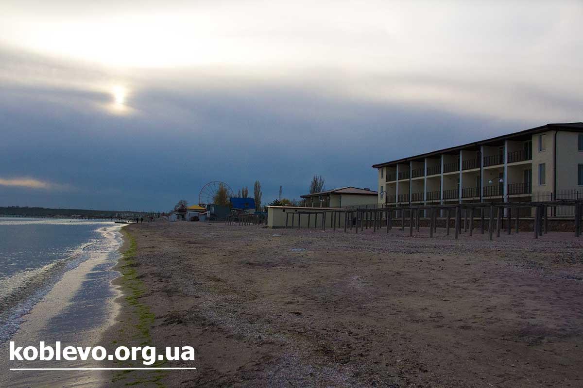 фото моря и пляжа Коблево 2017