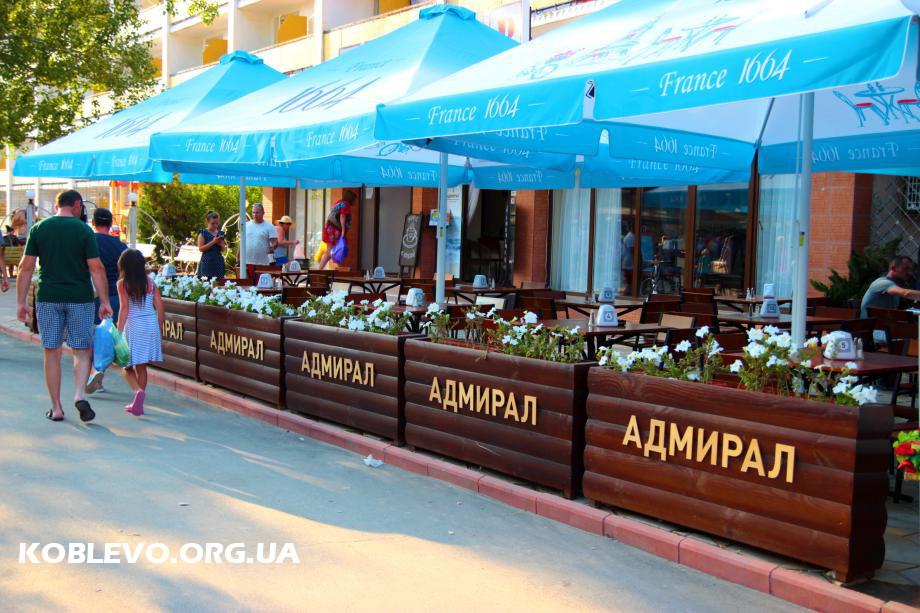 кафе адмирал коблево