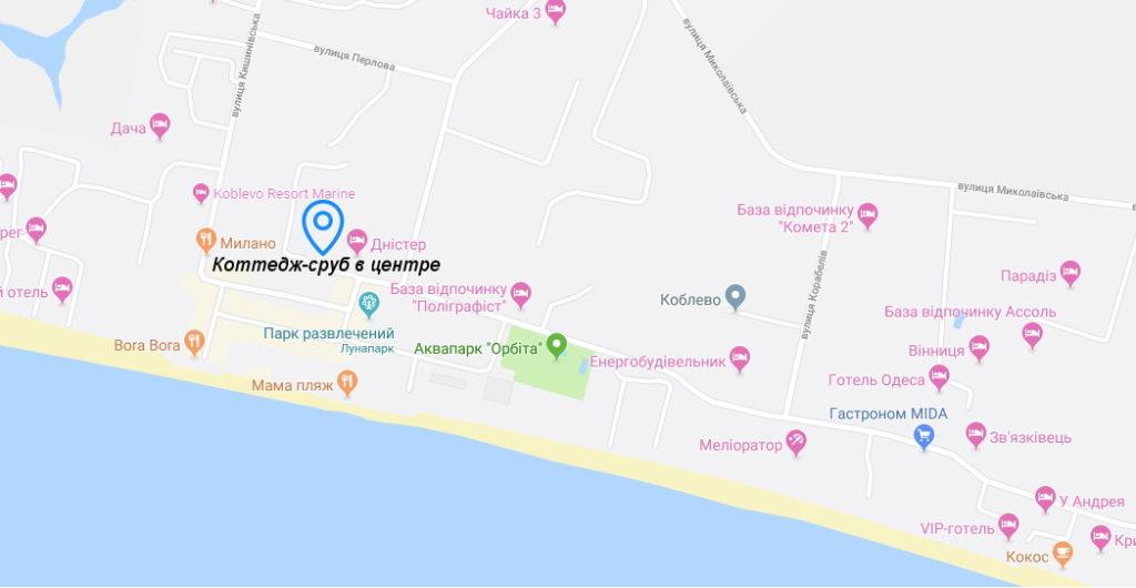 карта коблево коттедж