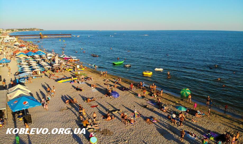 коблево пляж фото