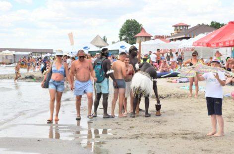 Пляж в Коблево фото. Лето 2019