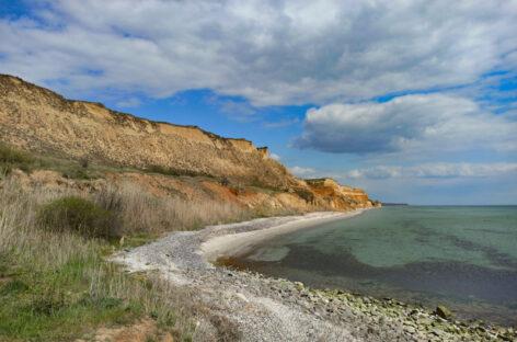 Видео и фото море, пляж, природа территории между курортами Морское и Коблево