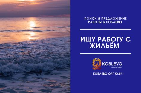 Работа с предоставлением жилья в Коблево. Ищу на лето
