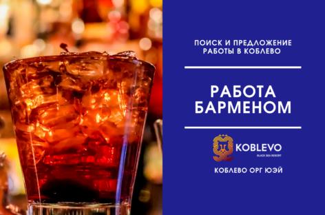Интересует работа барменом в Коблево. Опыт, резюме