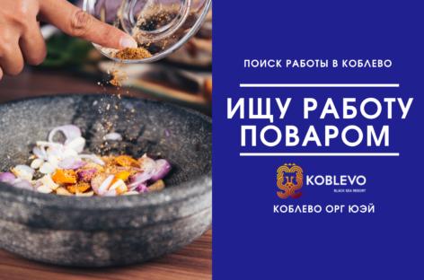 Поиск работы поваром в Коблево